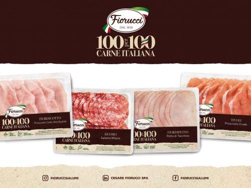 FIORUCCI lancia la linea rinnovata di affettati 100PER100 Carne Italiana all'insegna di più qualità e sicurezza.